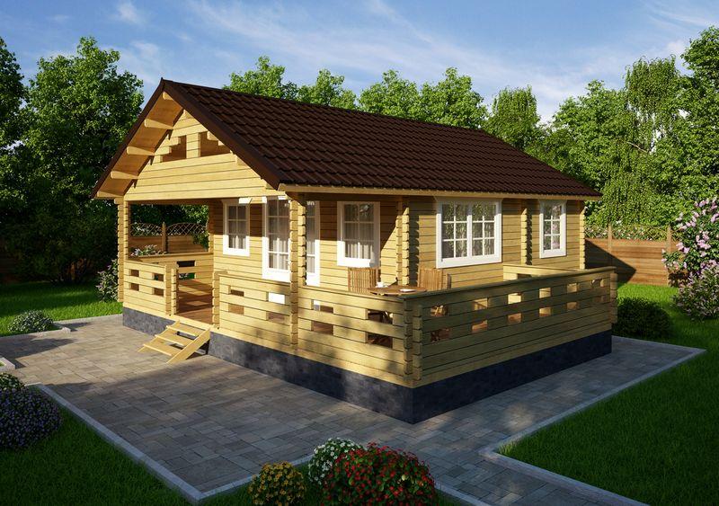 Фото - Строительство дачного дома из мини-бруса